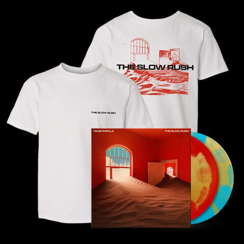 √The Slow Rush (Ltd. Bundle: Coloured LP + T-Shirt) von Tame Impala - LP Bundle jetzt im Caroline Shop
