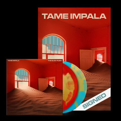 √The Slow Rush (Ltd. Coloured 2LP + signed Poster Bundle) von Tame Impala - LP Bundle jetzt im Caroline Shop